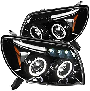 For Toyota 4Runner Halo LED Jet Black Projector Headlights Head Lamps Left+Right