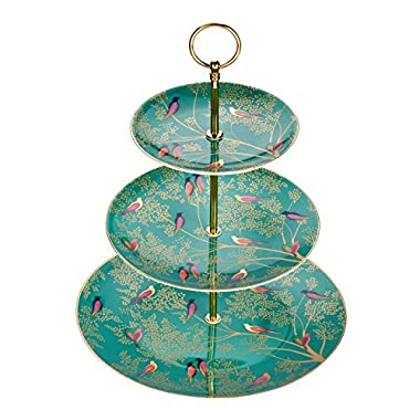 Portmeirion 3 tier cake stand Green