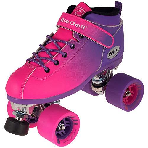 Riedell Skates - Dart Ombré - Quad Roller Speed Skate | Purple & Pink | Size 5