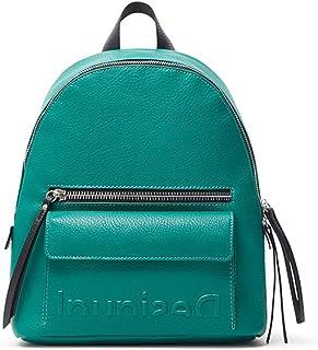 Desigual Back_Embossed Half M, Zaino Donna, Verde, Taglia Unica