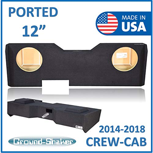 "Fits Chevy Silverado & Gmc Sierra Crew-Cab 2014-2018 12"" Dual Ported Subwoofer Enclosure"