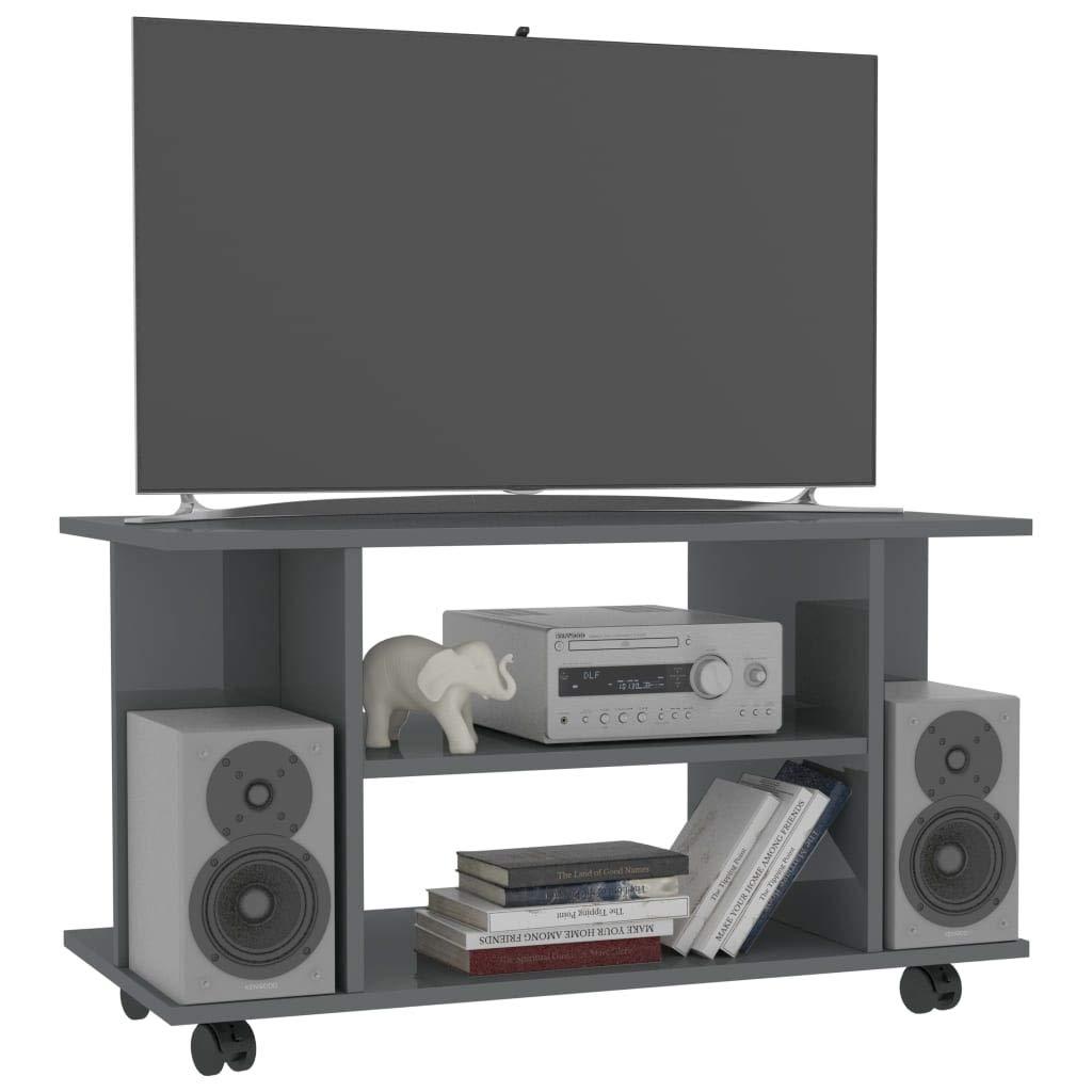Tidyard Mesa para TV Diseño Moderno Aparador para TV Mueble TV Salón Mesa Televisión Mueble Comedor Televisor con Ruedas aglomerado,80x40x40 cm,3# Gris Brillante: Amazon.es: Hogar