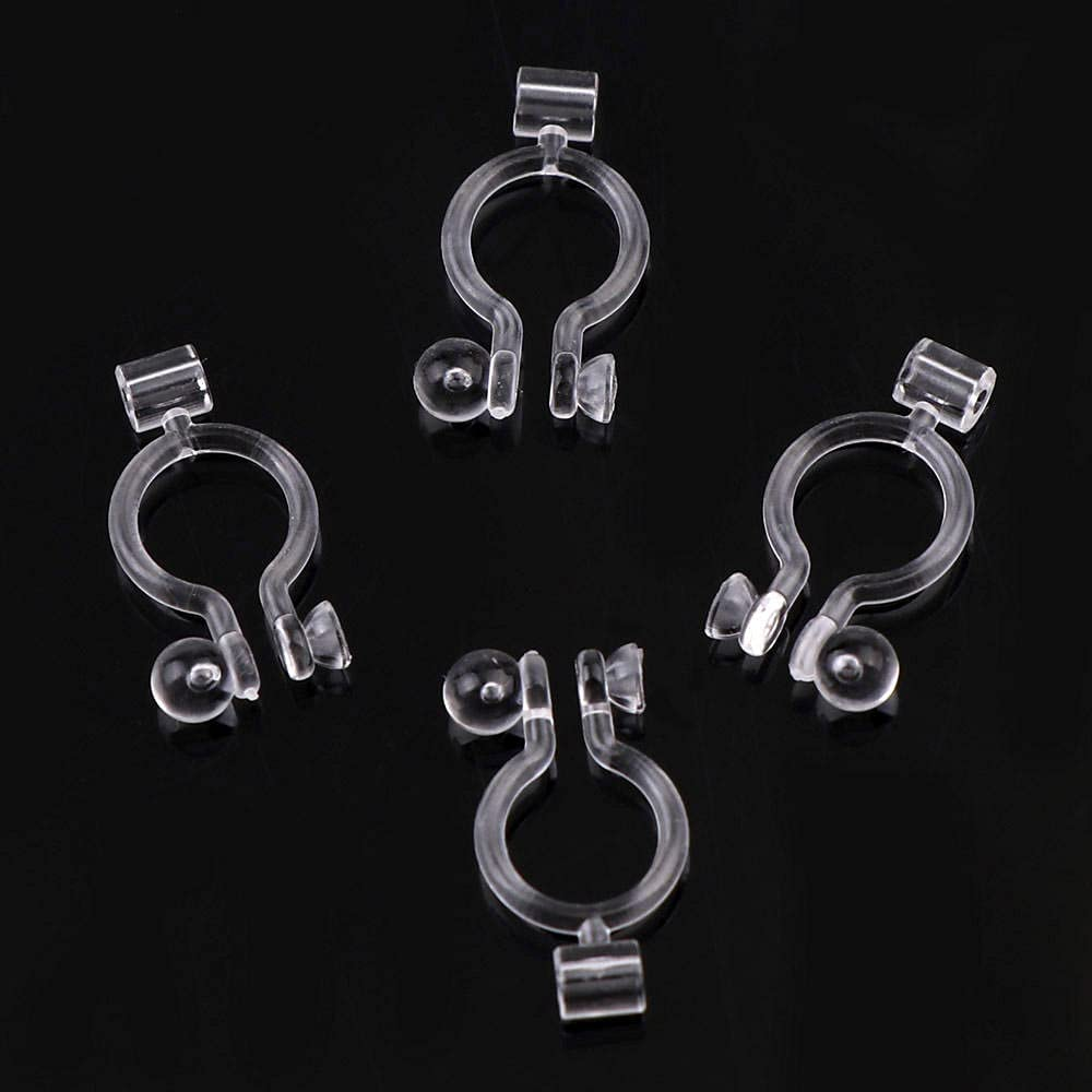 ZFCMIAO 20PCS Transparent Plastic Ear Clips Make Used trend rank are to ear Cheap mail order shopping