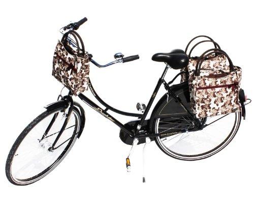 Pilgrim Lenkertasche + 2fach Packtasche beige mit Quick-Clip-Halterung