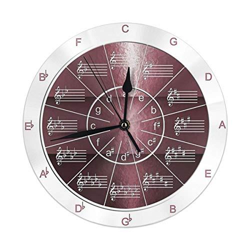 gardenia store Circolo delle quinte Color Prugna Metallo Rotonda Orologio da Parete Home Decor 9.84'