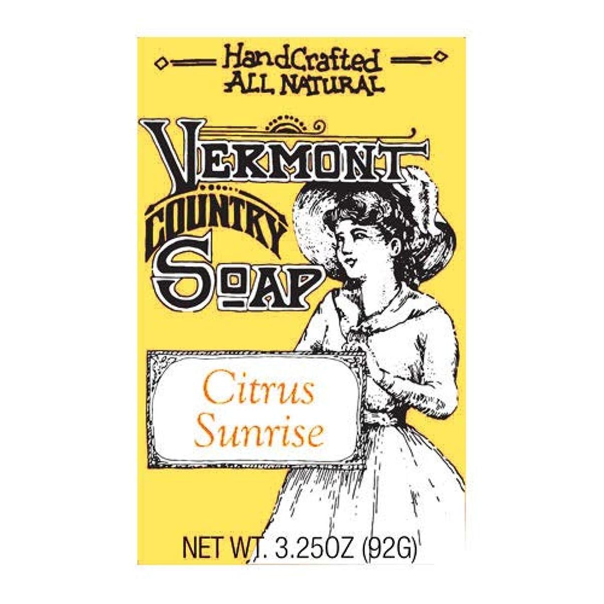 ブローホール基礎代替VermontSoap バーモントカントリーソープ 6種類 (シトラス サンライズ) 92g オーガニック石けん 洗顔 ボディー