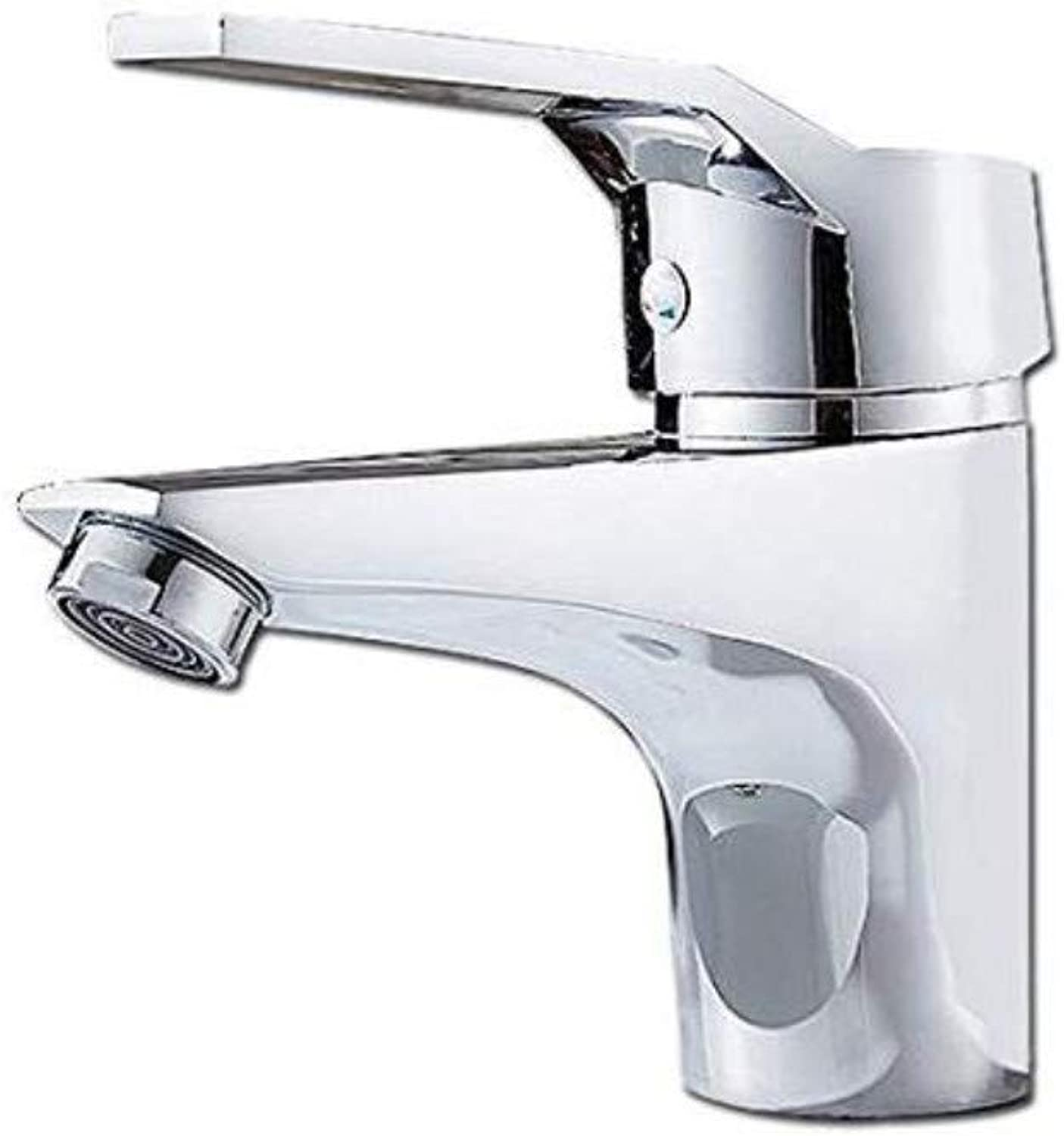 Modern Double Basin Sink Hot and Cold Water Faucet Tap Mixer Chrome Cold and Hot Water Sink Faucet