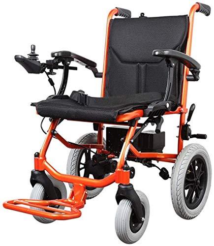 WXDP Potencia autopropulsada eléctrica ligera para discapacitados plegable de energía anciana 4 ruedas automático inteligente potente motor dual, control dualcómodo y
