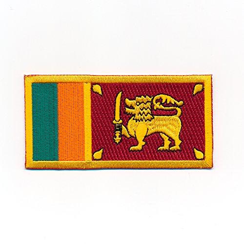 50 x 25 mm Sri Lanka Inselstaat Colombo Ceylon Flags Aufnäher Aufbügler 1030 A