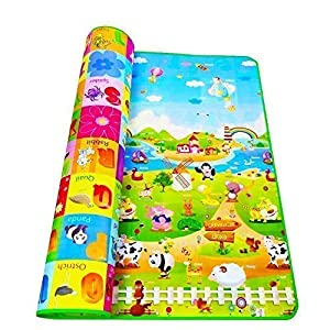 WIDEWINGS Double Sided Water Proof Baby Mat Carpet Baby Crawl Play Mat Kids Infant Crawling Play Mat Carpet Baby Gym… 14 51O+Wu8ue5L. SS300