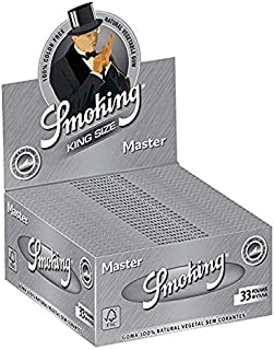 25 Smoking Brand Master Ultra Thin Ultra Slim Leaf King Size Cigarette Rolling Papers Packs (33 Leaves/Pack) + Beamer Smoke Sticker. For Legal Smoking Herbs, Rolling Tobacco, Herbal Mixes, Rollers,Ryo