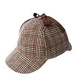 JSTwig ハンチング帽 ブリティッシュ 男女兼用 英国 探偵 コスプレ (茶)