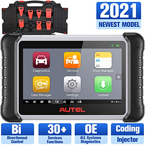 Autel MaxiPRO MP808K OBD2 Diagnostic Tool, Upgrade of MP808 and 150 USD Adaptor kit, Same as MS906, Key Coding, Bi-Directional Control, 30+ Services, Auto Bleed, Oil Reset, EPB, SAS, DPF, BMS