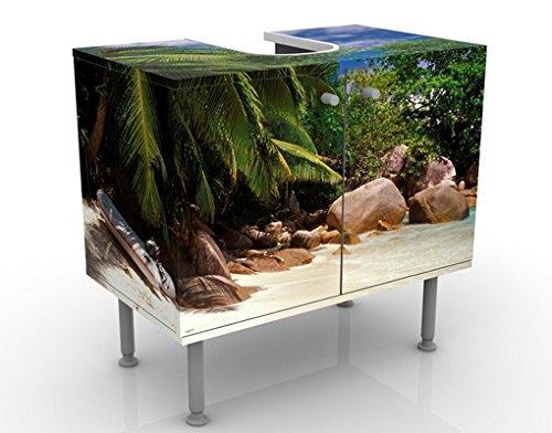 Apalis Waschbeckenunterschrank Honeymoon in Hawaii 60x55x35cm Design Waschtisch, Größe:55cm x 60cm