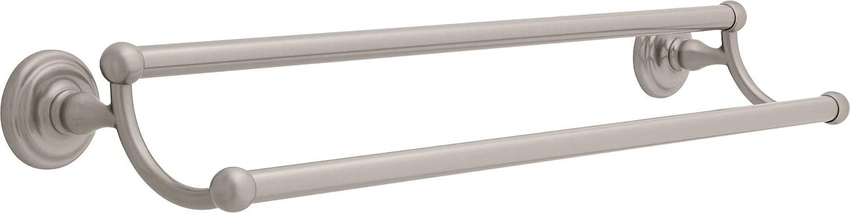 Franklin Brass 9045SN Over item handling ☆ Jamestown Double Sati Bar Rack 24