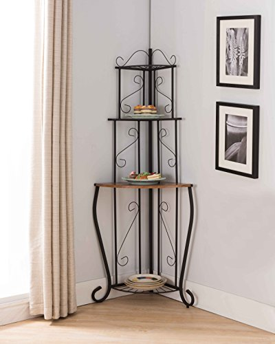 Giantex 4-Tier Kitchen Microwave Storage Rack Oven Stand Strong Mesh Wire Metal Shelves Free Standing Baker's Rack Shelving Utility Unit, 23.5