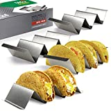 Taco Holder Set of 4 - Stainless Steel Taco Stand - Dishwasher & Oven Save...
