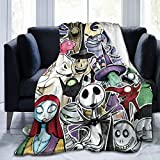 Nightmare Before Christmas Ultra Soft Throw Blanket Flannel Fleece All Season Light Weight Living Room/Bedroom Warm Blanket ,Black ,50'' x40