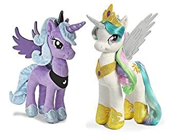 Aurora My Little Pony Plush 15  Princess Celestia and 14  Princess Luna Bundle