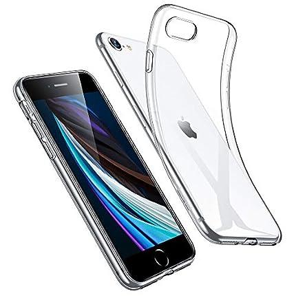 ESR Funda TPU para iPhone SE 2020/8/7 4.7'', Anti-amarillea y Anti-Arañazos, Carcasa Silicona HD Claro Híbrido, Esquinas con Absorción de Golpes, Transparente