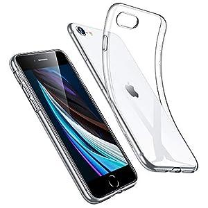 ESR iPhone SE 用 ケース iPhone8 用 ケース 4.7インチ 透明 スリム 軽量 tpuカバー 柔軟 シリコン クリア