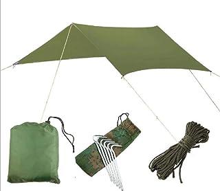 Vert Lawei B/âche Anti-Pluie Rain Fly Imperm/éable Tente Imperm/éable Abri de Randonn/ée Pliable L/éger pour lRandonn/ée Backpacking Picnic Camping en plein air Voyage 3 x 3m