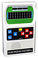 JUST LIKE THE ORIGINAL - Feel nostalgic and retro while playing the most fun football handheld game of all time! CLASSIC GAMEPLAY - Run, kick and move forward or sideways to avoid tacklers while playing by yourself or against someone else! SHARE - Pe...