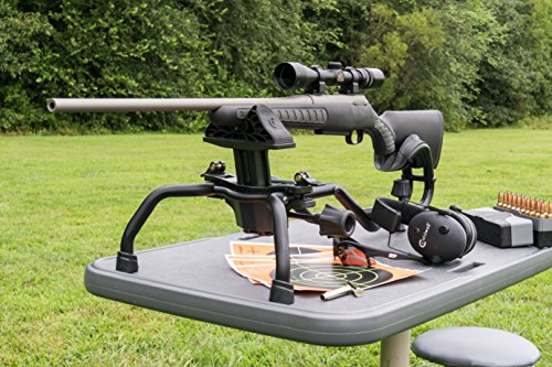 Caldwell Stinger Adjustable Ambidextrous Rifle Shooting Rest for Outdoor Range