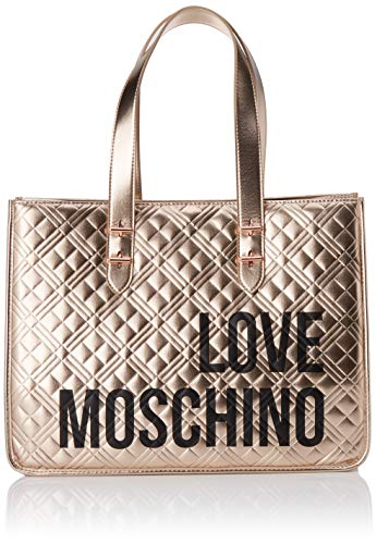 Love Moschino Jc4209pp0a, Bolso tipo tote para Mujer, Rojo (Red Quilted), 16x31x42 Centimeters (W x H x L)