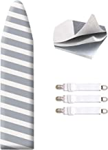 """SheeChung 42""""x12"""" Ironing Board Cover and Pad - with Pull Bungee Fit System and 3 Connecting Straps,Premium Heavy Duty 3-Layer Silicone Coated Cover,Heat Reflective, Scorch Resistant"""
