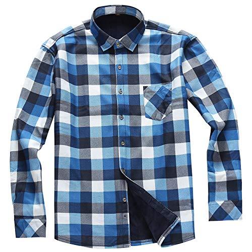 男士保暖加厚格子衬衫