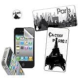 Omenex City NY 730733 - Lote de decoración para iPhone 4 y 4S