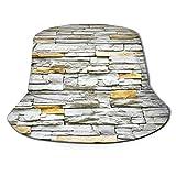 Bucket Hat Packable Reversible Stone Gray Brick Wall Print Sun Hat Sombrero de Pescador Gorra Camping al Aire Libre