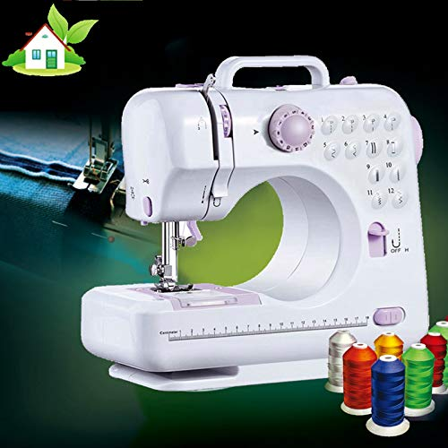sewing machine is light in weight, suitable for family beginners, (SAFE), (ENVIRONMENTALLY FRIENDLY), (ENERGY-SAVING) , and has many sewing functions.