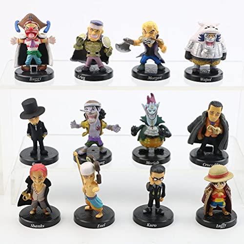 Figuras de acción de Anime One Piece, figuras de acción anime, modelo de personaje anime, juguete para fans (12 unidades)