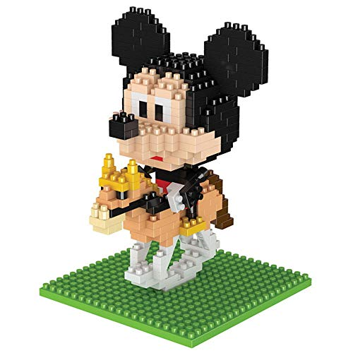 Anoauit Diamant Mini Bausteine Sets 7 Arten Schöne Disney Figur Modell 3D Puzzle Geburtstagsgeschenke für Kinder Erwachsene-B.