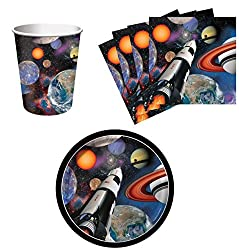 Outer Space Birthday Cups and plates