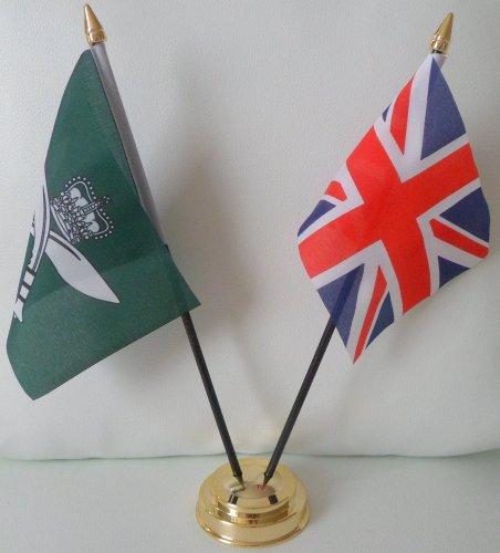 Royal Gurkhas drapeau Union Jack 2 amitié Tableau d'affichage avec Base dorée
