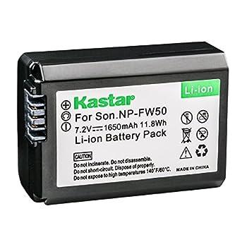 Kastar Battery  1-Pack  for Sony NP-FW50 BC-VW1 BC-TRW and Sony Alpha 7 a7 a7R a3000 a5000 a6000 NEX-3 3N NEX-5 5N 5R 5T NEX-6 NEX-7 NEX-C3 NEX-F3 SLT-A33 A35 A37 A55V DSC-RX10 Cameras