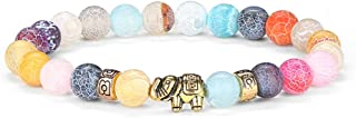 Elephant Gifts for Women Bracelet - 8mm Natural Lava Rock Bead Chakra Bracelets for Women Men Stress Relief Yoga Bracelet Aromatherapy Essential Oil Diffuser Bracelet Elephant Gifts for Women Girls