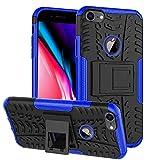Verco Armor - Carcasa para iPhone 8 Plus, carcasa rígida para Apple iPhone 7 Plus/8 Plus, color azul