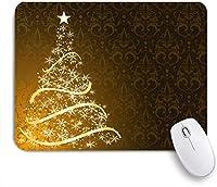 ZOMOY マウスパッド 個性的 おしゃれ 柔軟 かわいい ゴム製裏面 ゲーミングマウスパッド PC ノートパソコン オフィス用 デスクマット 滑り止め 耐久性が良い おもしろいパターン (色の波を意識した星のクリスマスツリー12月のリボンの休日のロマンスの休日)