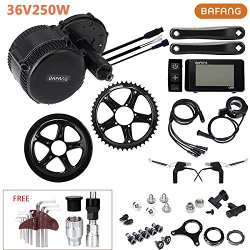 YOSE POWER 8Fun E-Bike Conversion Kit 36V 250W 80N.m Bafang Motor Mittel Motor Fahrrad Umbausatz mit LCD-Display