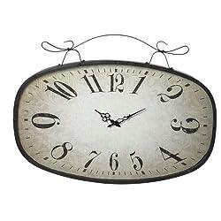 Midwest-CBK Scroll Wall Clock, Large, Distressed Black