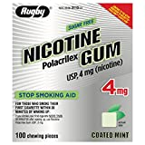 Rugby Sugar Free Nicotine Polacrilex Gum, 100 Count - 4 MG - COATED MINT Flav... - Buy Packs and SAVE (Pack of 3)