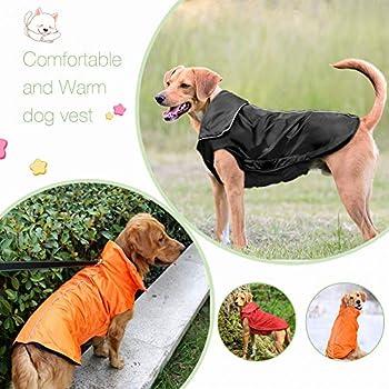 IREENUO Manteaux Imperméables Raincoat Chiens, Imperméable Veste pour Animaux de Compagnie Chiens Hiver Chaud Vêtements De Pluie Noir-3XL