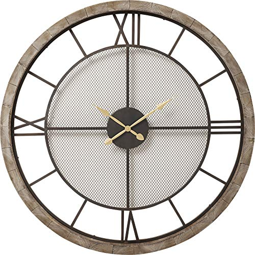 Kare 60435 Horloge Murale Village Ø 121 cm, Gris, 8 x 121 x 121