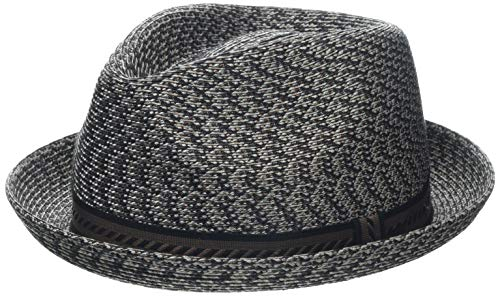 Bailey of Hollywood Men's Headwear Bailey of Hollywood Herren Mannes Braided Trilby Hat Fedora, Braun/Mehrfarbig, X-Large