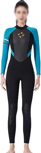 UICICI 3MM Costume de plongée Femme Siamois Manches Longues Combinaison Chaude Chaud en Plein air Surf Froid plongée en apnée Femme Maillot de Bain Hiver