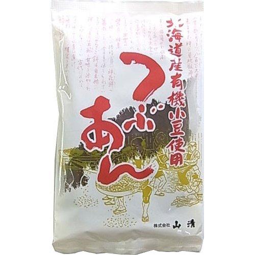 北海道産有機小豆使用つぶあん 200g 【山清】